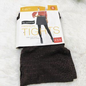 Textured Tights Brown Small